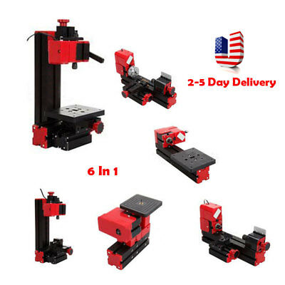 6-1 Multi-function Jigsaw Drilling Sanding Wood-turning Lathe Milling Machine US