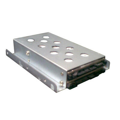 """1 x 3.5"""" to 2 x 2.5"""" HDD/SSD Tray Converter Silver"""