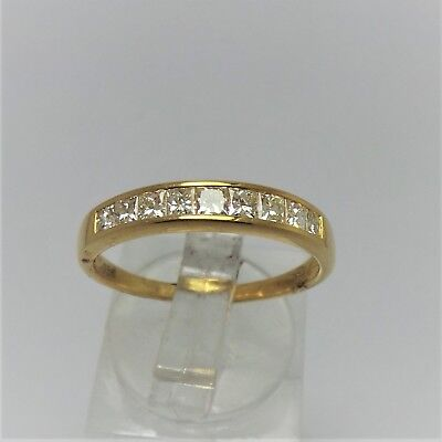 18Ct Yellow Gold 1/2 Ct Diamond Wedding Band Ring Valued @$1646 With Valuation