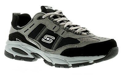 New Mens/Gents Black Skechers Vigor Lace Ups Trainers. UK Size