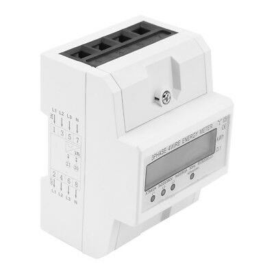 Digital LCD 3x20(80A) Three Phase Four Wire DIN-Rail  Energy KWh Meter