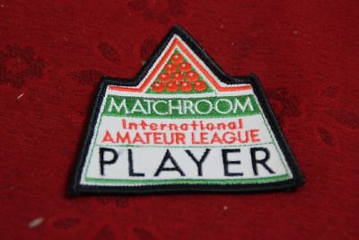 Aufnäher Batch   BILLARD Matchroom International Amateur League Player