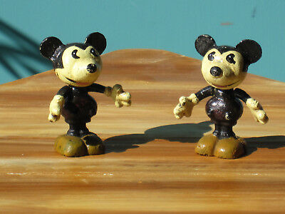 Vintage Mickey Mouse Cast Iron Statues