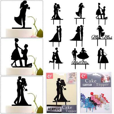 Acrylic Bride and Groom Wedding-Love Cake Topper Party Favors Decorat RT