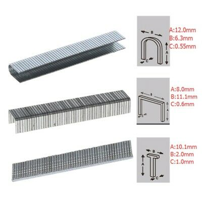 1000 Pcs T/U/Door Shaped Staples 6.3/2/8 mm Nails For Staple Gun Stapler