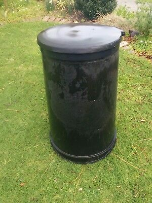 Round Plastic Rotary Press Black Compost Bin with Lid