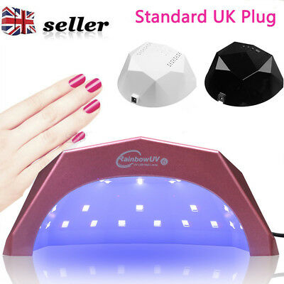 2018 48W LED UV Nail Lamp Light Gel Polish Dryer Art Curing Timer 24LEDs UK Plug