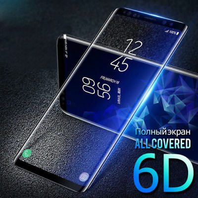 6D Screen Protector For Samsung Galaxy S8 S9 Note8 Curved Edge Tempered Glass