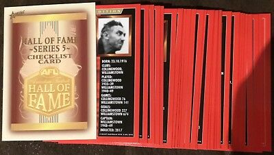 2018 Select Legacy Hall Of Fame Limited Edition Complete Set Series 5 34Cards