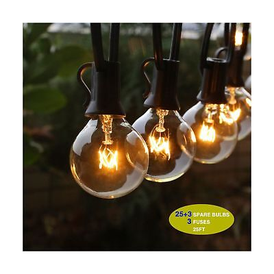 Outdoor String Lights, G40 Outdoor String Light Bulbs Listed, Waterproof Stri...