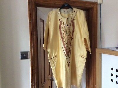Men Grand Boubou Pant Suit With Hat One Size
