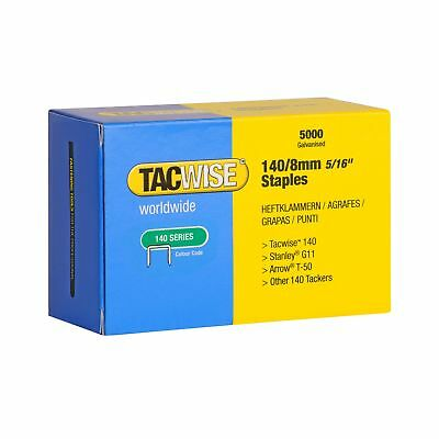 Tacwise 140 Series 8mm Staples for Staple Gun (Pack of 5000) 8 mm