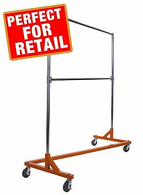 Commercial Garment Rack (Z Rack) - Rolling Clothes Rack, Z Rack With KD