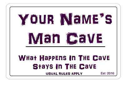 Personalised Man Cave Sign Wall Plaque Make Ideal Gift