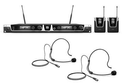 Professionelles Dualess UHF Wireless System, 30 mW mit 2x Bodypack & 2x Headset