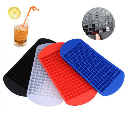 160 Grids Mini Small Ice Cube Tray Frozen Cubes Tray Silicone Ice Maker Mold DIY