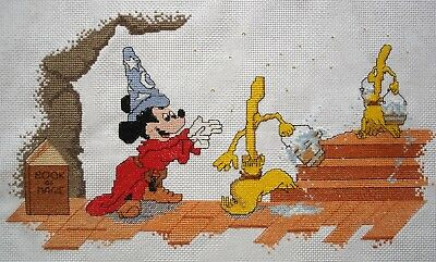Counted Cross Stitch Unframed Picture Disney Mickey Mouse Sorcerers Apprentice