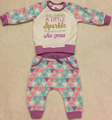 Baby Girls Tracksuit Set, Size 00, Good Condition!!