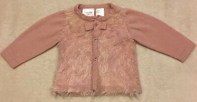 Baby Girls Dusty Pink Cardigan, Size 00, Great Condition!!