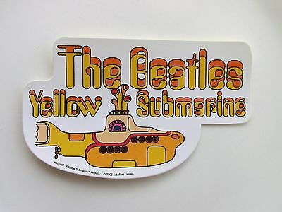 The Beatles Yellow Submarine Vinyl Sticker Official Licensed Product Apple 2005