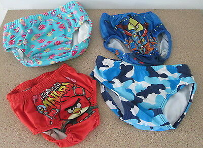 Vintage Boy Girl Kid Swimwear Swimmers Swim Trunks Angry Birds Girl2Girl Bathers