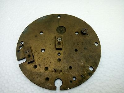 "Antique Vintage French Japy Freres Brass Clock Plate 3 1/4"" Diameter"