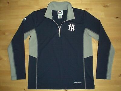 New York Yankees Majestic Baseball 1/2 Zip Top M - Medium Youths 10/12  *superb*