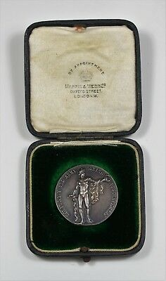 Royal Navy and Army Boxing Association silver prize medal, 1918. B.E.F.