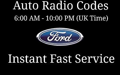 Ford Radio Code V Series M Series Sony Visteon Focus Fiesta Transit Van Unblock