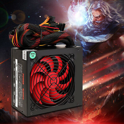 550W Power Supply Smart Silent Cooling Fan ATX ComputerFor Intel i7 / AMD CPU AU