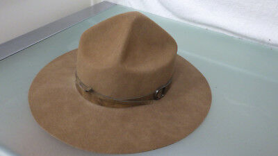 Vtg Royal Canadian Mounted Police HAT Stetfelt Fur/Wool Blend by RIPLEY'S 1980s
