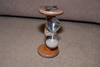 Vintage hourglass hour glass made from old cotton bobbin