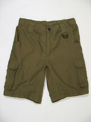 Boy Scouts of America BSA Youth L Large Switchback Uniform Cargo Shorts Green