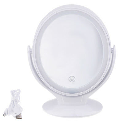 LED Light Makeup Vanity Mirror 360 Degree Rotated Cosmetic Mirror Magnifying