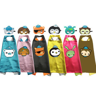 Octonauts Captain Barnacles Kwazii Peso Cape and Mask Costume Book Week