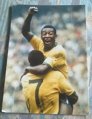"The Guardian Newspaper Postcard   ""  Pele  ""   World Cup 1970"