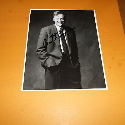 Conan O'Brien is an American television host, comedian,  Hand Signed Photo