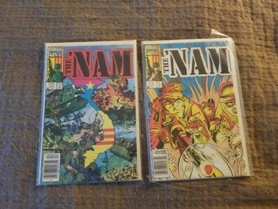 The 'Nam # 1 and 2 1986 Marvel NM Comic Book Vietnam Series