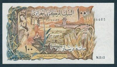 "Algeria: 1-11-1970 100 Dinars ""SCARCE TYPE NOTE"". Pick 129a UNC Cat $100"