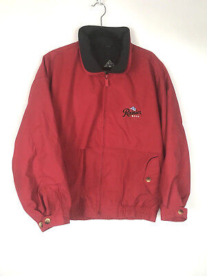Vintage Rainier Beer Gear For Sports Red Jacket Mens Large