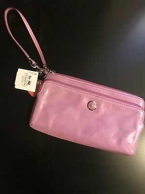 Brand New Authentic Coach Wristlet Wallet In Lilac Rose NWT $128 Retail