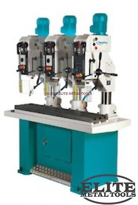 """NEW Clausing 23.6"""" Drill Press with Step Pulley Manual Feed 3MT 1.2/1.8..."""