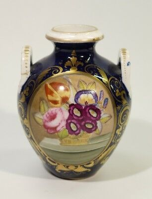 Beautifully Painted Georgian Antique Derby Porcelain Vase 1784 -1825.