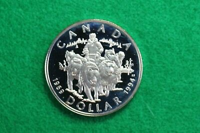 RARE 1969-1994 CANADA STERLING PROOF DOLLAR 25th ANNIV.  COMMEMORATIVE D13196