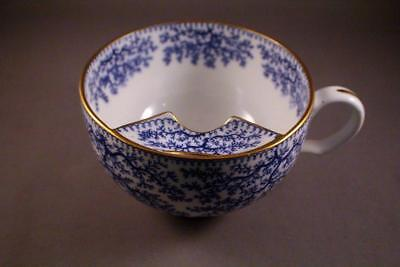 RARE MINTONS BLUE AND WHITE MOUSTACHE CUP c.1900's - PERFECT