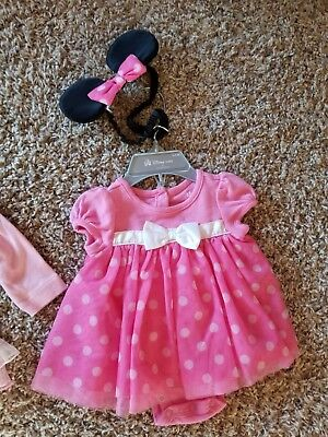 Disney Store Minnie Mouse Bodysuit Halloween Costume Size 0-3 months Baby