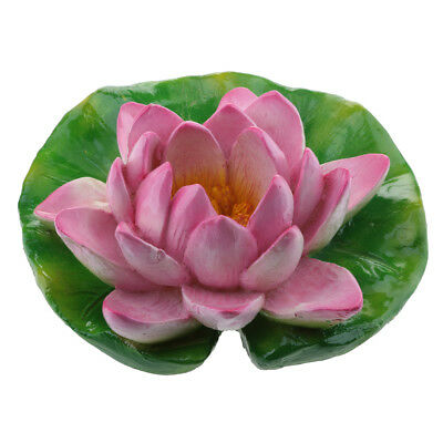 Purple Lotus Water Lily Floating Flower Pond Fish Tank Plant Decor Gift