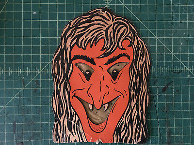 HALLOWEEN DECORATION DIE CUT OUT PAPER witch VINTAGE