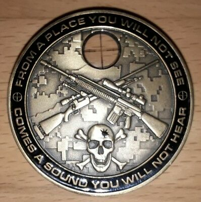 "US Challenge Coin ""SNIPER"" you can run but you will only die tired"