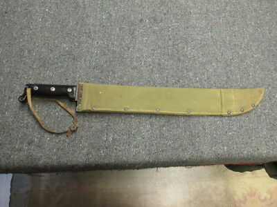 Wwii Us Military M-1942 Machete W/ Sheath-Disston 1943-Nice
